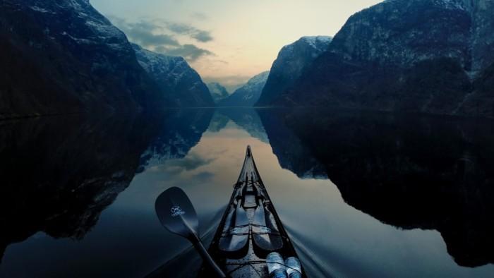 Nærøyfjord Aurlandsfjord Western Norway Kayaking