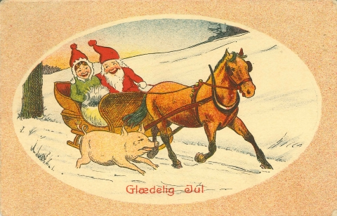 Old Norwegian Christmas Card 1920