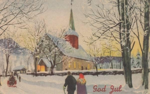 Old Norwegian Christmas Card 1947