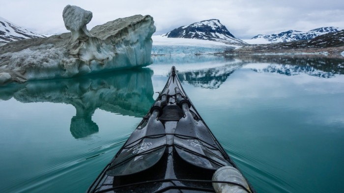 Styggevatnet Glacier Lake Norway Kayaking