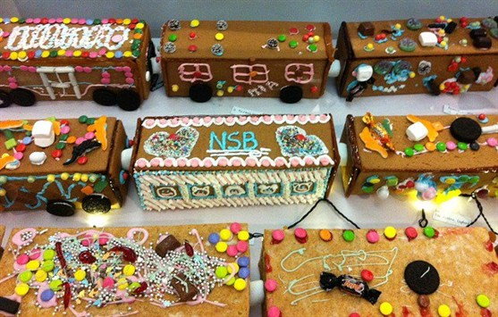 World's Longest Gingerbread Train