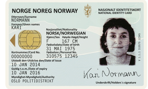 New Norwegian Passports by Neue ID card