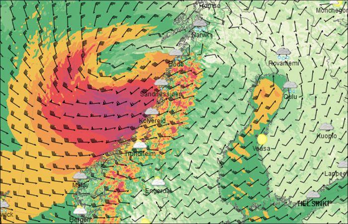 Storm Hilde Norway 2013