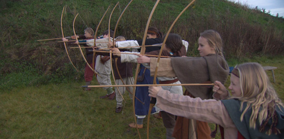 Viking Age Children with Bow and Arrow