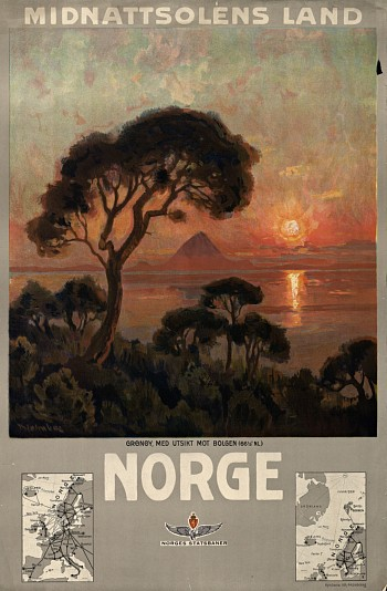 Norway - the Land of the Midningt Sun Poster 1905 - 1910
