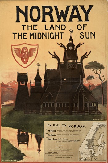 Norway - the Land of the Midningt Sun Poster 1905