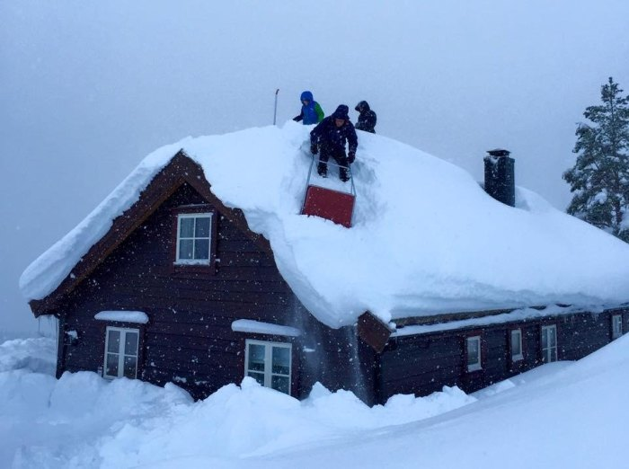 Snø hyttetak 1