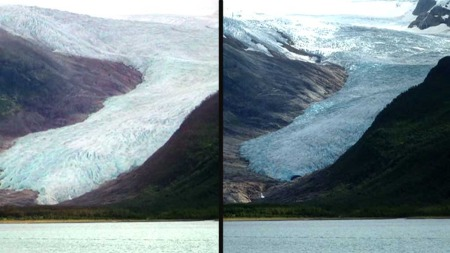 Engabreen Glacier Melting Norway