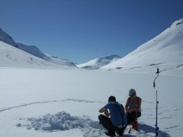 Ice Fishing Litlevatnet Western Norway