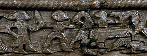 Oseberg Viking Age Cart Carvings