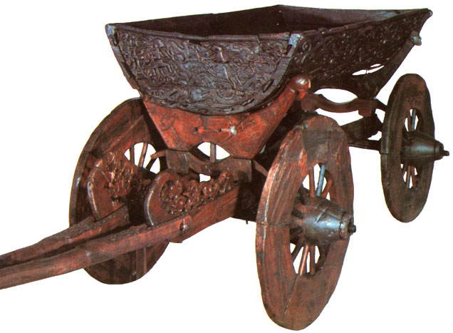 Oseberg Viking Age Cart