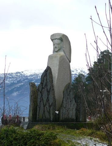 Witch Monument Gloppen Norway
