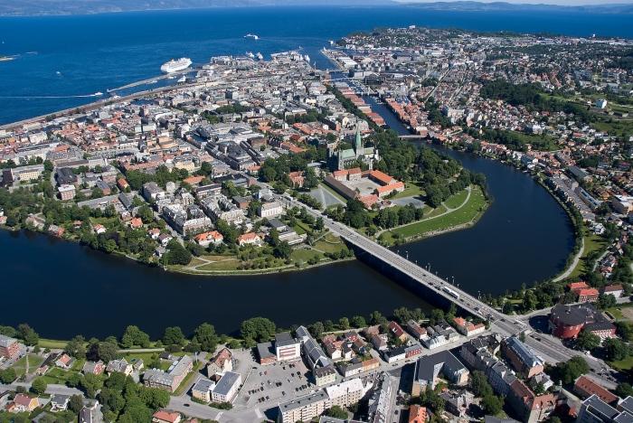 Elgeseter Bridge Trondheim Norway