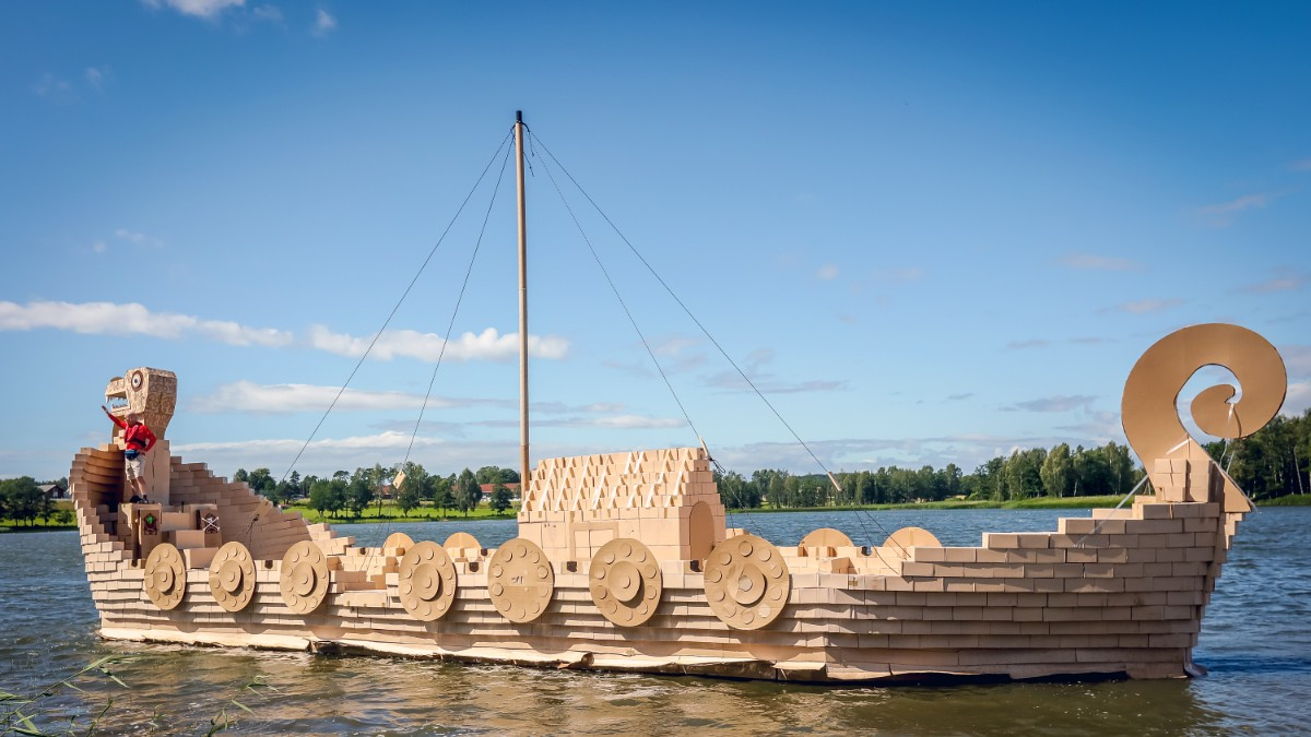 This Viking ship is probably not as scary as the original… (Photo ...