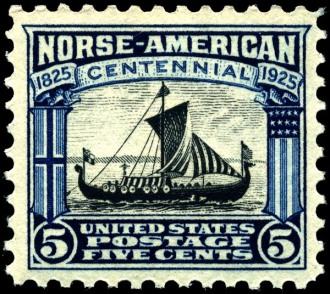 US Postage Stamp Viking Ship