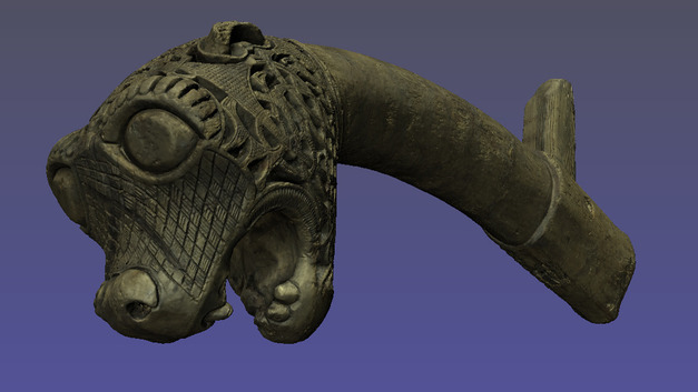 Animal Head 3D Oseberg Viking Ship