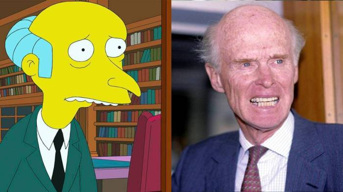 Mr. Burns and Fred. Olsen