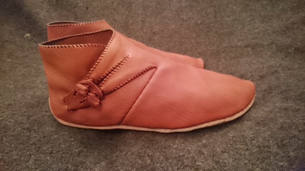 Reconstructed Coppergate York Viking Shoe