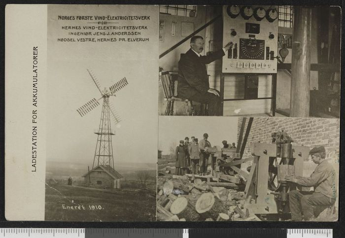Norway's First Wind Power Plant 1910