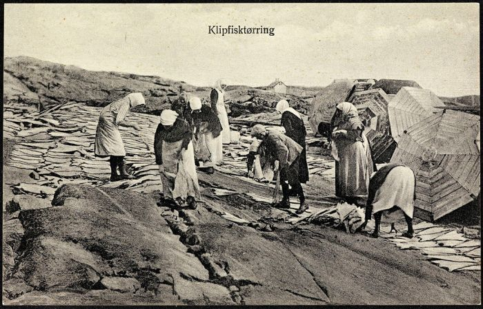 Clipfish Kristiansund Norway 1922
