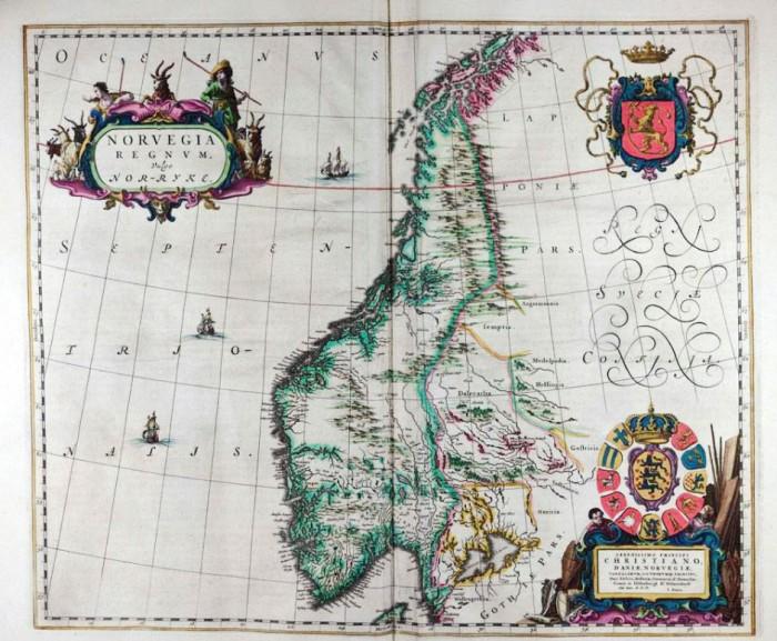 Norvegia Map of Norway