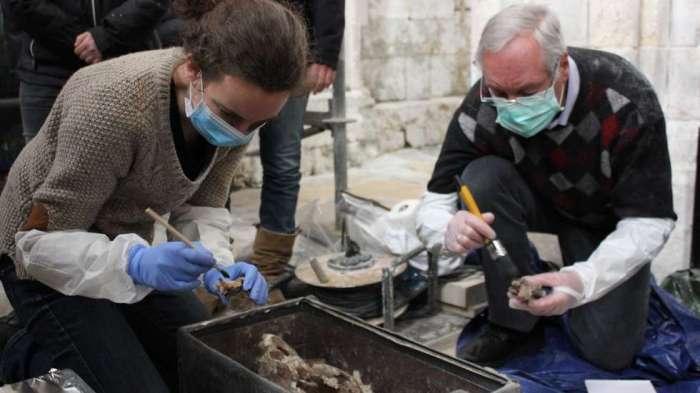 Opened Viking Tomb Normandie