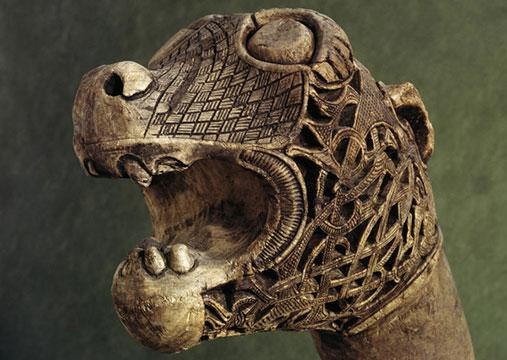 Oseberg ship grave dragonhead