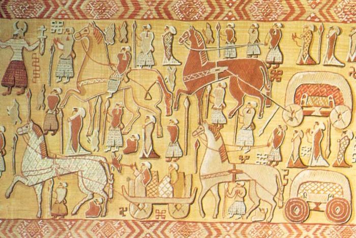 Osberg Tapestry Religious Prosession