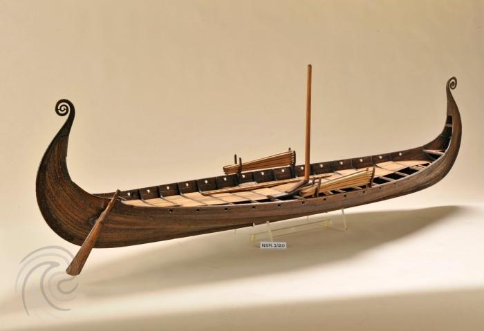Oseberg Viking Ship Digital Model