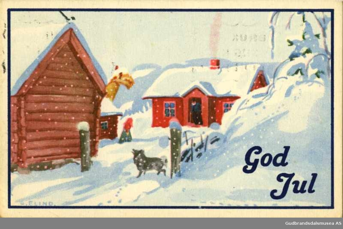 Old Norwegian Christmas Card 3
