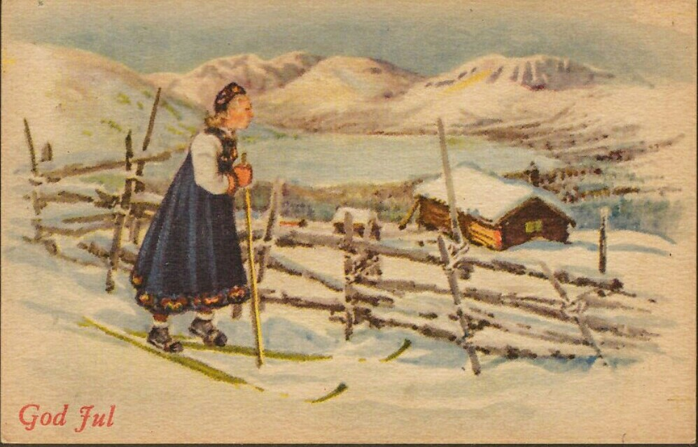 Old Norwegian Christmas Card 5